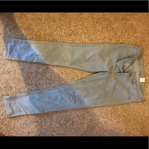 Used, like new. Women's jeans, 31. Not stretchy.